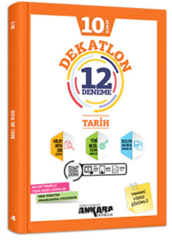 Ankara Yayıncılık 10.Sınıf Tarih Dekatlon 12 Deneme