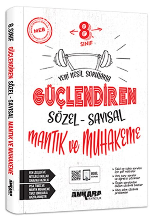 Ankara Yayıncılık 8. Sınıf Sözel Sayısal Mantık Muhakeme Güçlendiren Soru Bankası