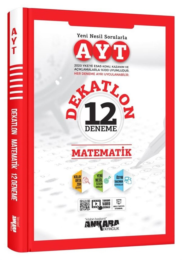 Ankara Yayıncılık AYT Dekatlon Matematik 12 Deneme