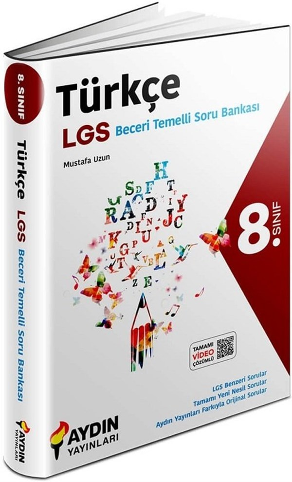 Aydın Yayınları 8. Sınıf LGS Türkçe Beceri Temelli Soru Bankası