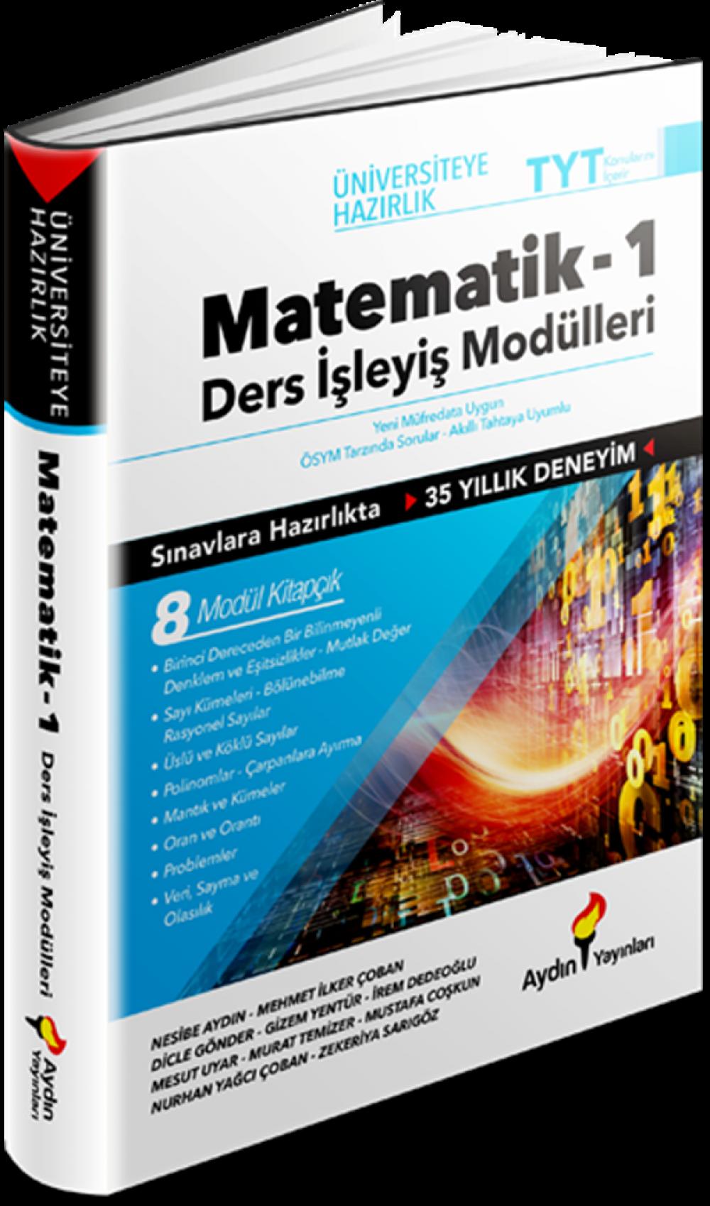 Aydın Yayınları TYT Matematik Ders İşleyiş Modülleri 1. Kitap