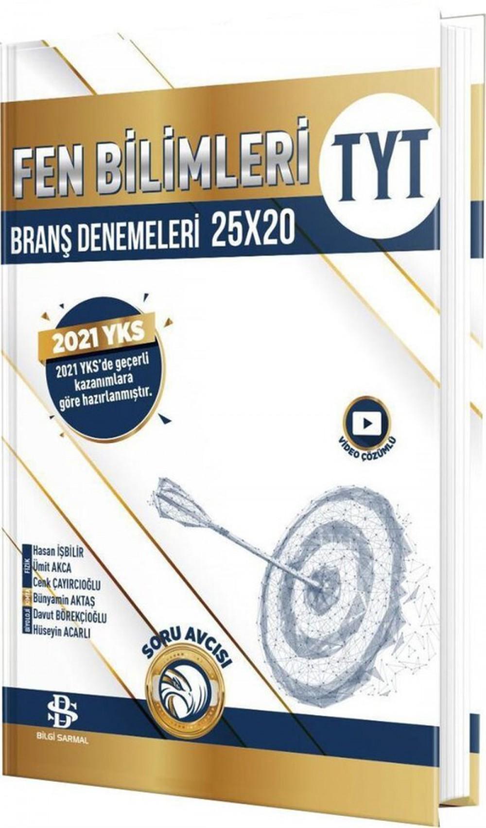 Bilgi Sarmal Yayınları TYT Fen Bilimleri 25 x 20 Branş Denemeleri