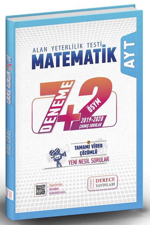 Derece Yayınları AYT Matematik 7+2 Deneme Video Çözümlü