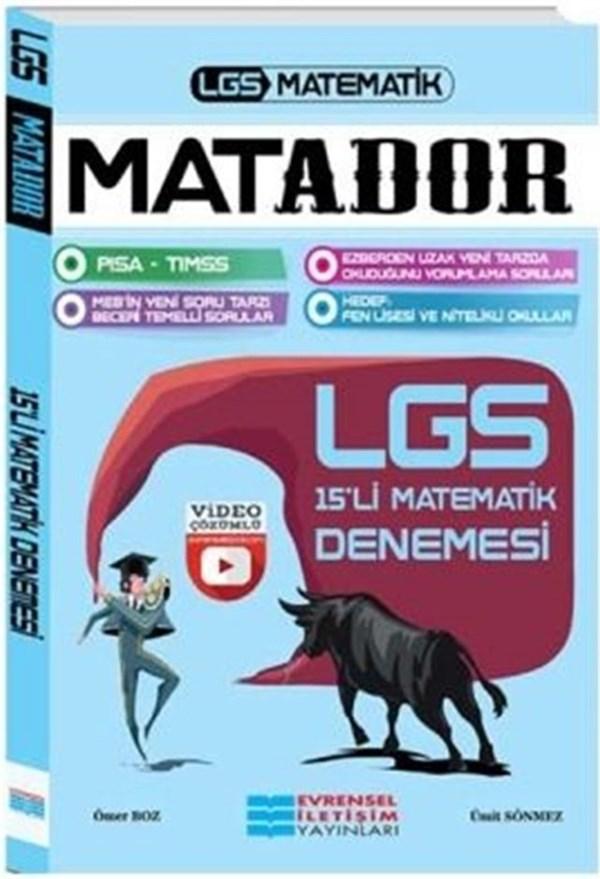 Evrensel İletişim Yayınları LGS Matador Matematik Video Çözümlü 15'li Deneme