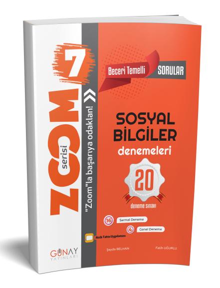 Günay Yayınları 7. Sınıf Sosyal Bilgiler Zoom 20 Deneme