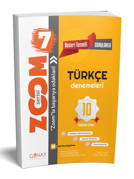 Günay Yayınları 7. Sınıf Türkçe Zoom 10 Deneme