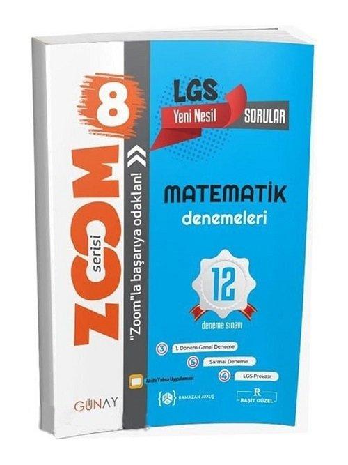 Günay Yayınları 8. Sınıf LGS Matematik Zoom 12 Deneme