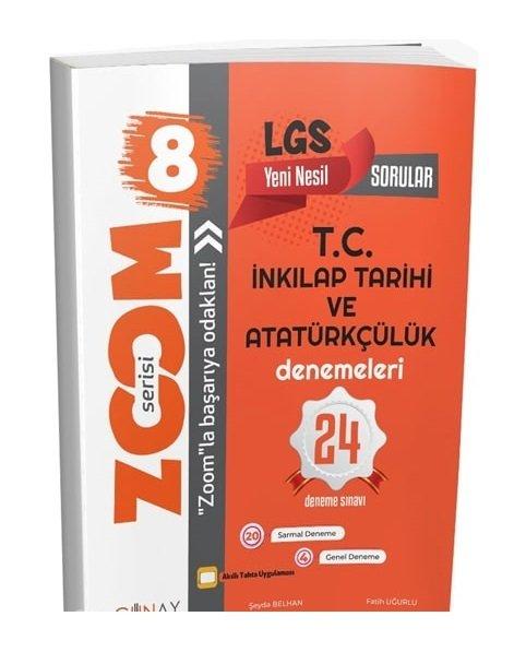 Günay Yayınları 8. Sınıf LGS TC İnkılap Tarihi ve Atatürkçülük Zoom 24 Deneme