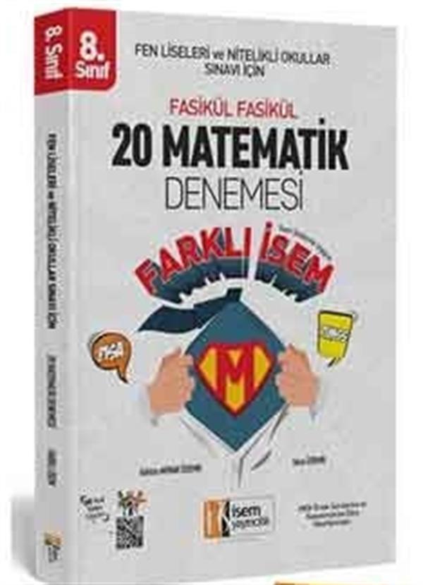 İsem Yayıncılık İsem 2019 LGS Farklı İsem 8. Sınıf Matematik 20 Deneme