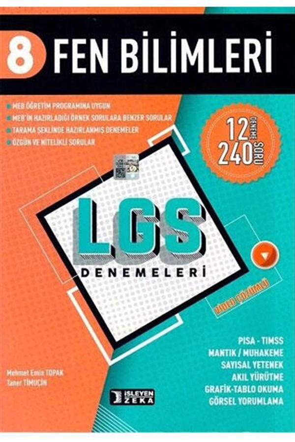 İşleyen Zeka Yayınları 8. Sınıf LGS Fen Bilimleri Denemeleri