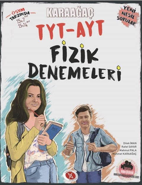Karaağaç Yayınları TYT AYT Fizik Denemeleri Video Çözümlü