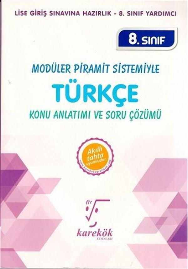 Karekök Yayınları 8. Sınıf Türkçe Konu Anlatımı ve Soru Çözümü