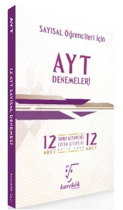Karekök Yayınları YKS AYT Sayısal 12 li Denemeleri