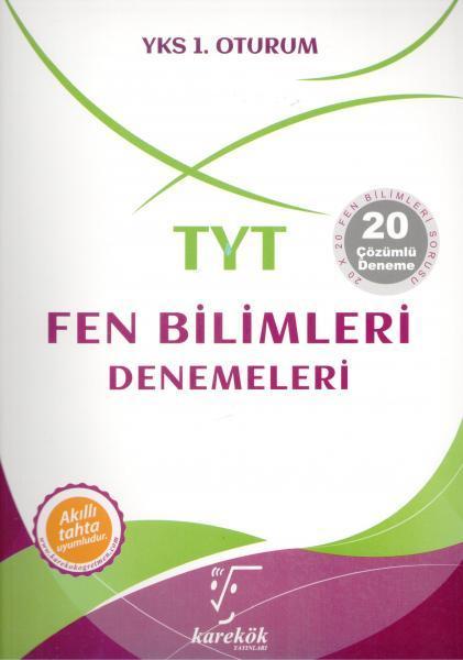 Karekök Yayınları YKS TYT Fen Bilimleri 20 Deneme Çözümlü