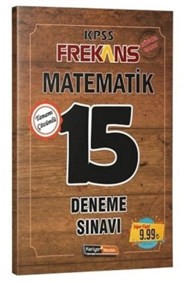 Kariyer Meslek Yayınları 2020 KPSS Frekans Matematik Çözümlü 15 Deneme Sınavı