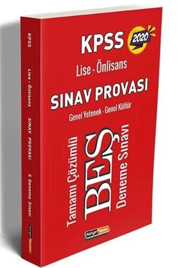 Kariyer Meslek Yayınları 2020 KPSS Lise Ön Lisans GY GK Sınav Provası Tamamı Çözümlü 5 Deneme Sınavı