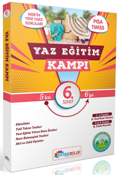 Köşebilgi Yayınları 6. Sınıf Yaz Eğitim Kampı Tatil Kitabı