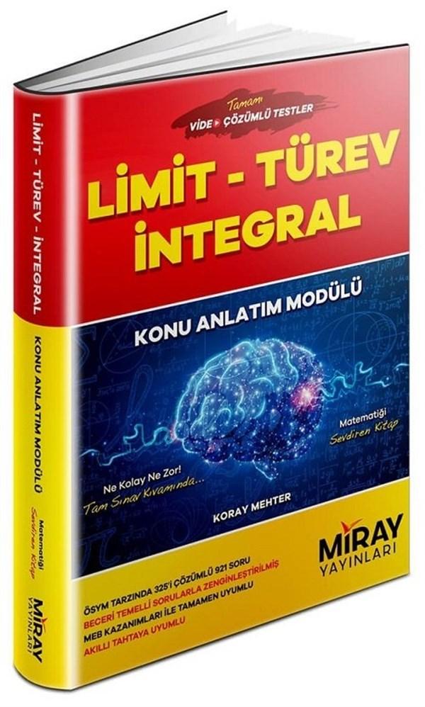 Miray Yayınları YKS AYT Limit Türev İntegral Konu Anlatım Modülü
