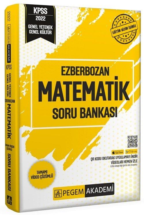 Pegem Akademi Yayınları 2022 KPSS Matematik Ezberbozan Soru Bankası Video Çözümlü
