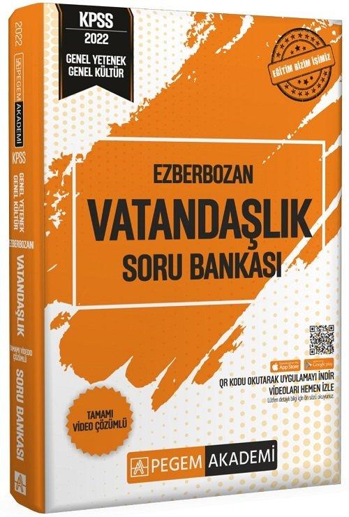 Pegem Akademi Yayınları 2022 KPSS Vatandaşlık Ezberbozan Soru Bankası Video Çözümlü