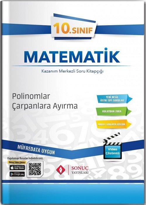 Sonuç Yayınları 10. Sınıf Matematik Polinomlar-Çarpanlara Ayırma Soru Bankası