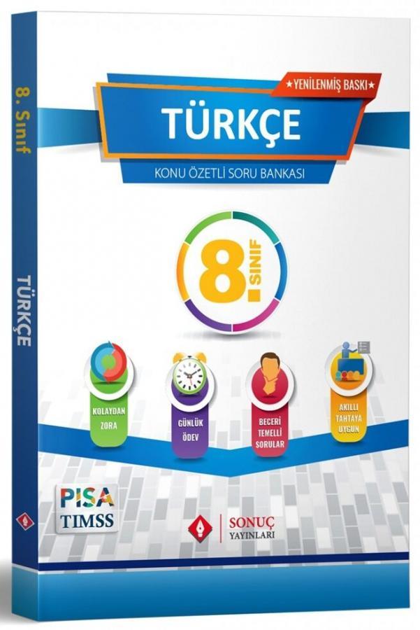 Sonuç Yayınları 2022 8.Sınıf Türkçe Konu Özetli Soru Bankası