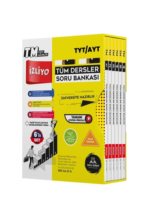 Soru Kalesi Yayınları TYT-AYT 6 Kitap Tüm Dersler Soru Bankası İzliyo Tm Seti