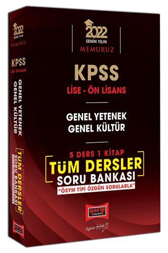 Yargı Yayınları 2022 KPSS Lise Ön Lisans GY GK 5 Ders 1 Kitap Tüm Dersler Soru Bankası