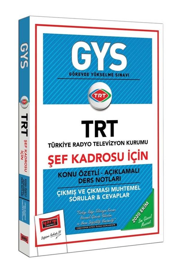 Yargı Yayınları GYS TRT Şef Kadrosu İçin Konu Özetli Çıkmış ve Çıkması Muhtemel Sorular