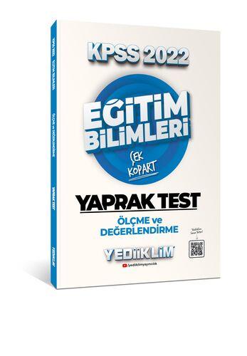 Yediiklim Yayınları 2022 KPSS Eğitim Bilimleri Ölçme ve Değerlendirme Çek Kopart Yaprak Test