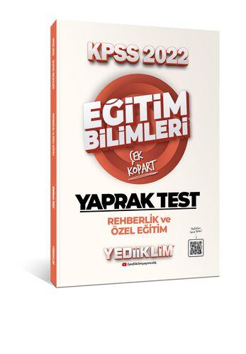 Yediiklim Yayınları 2022 KPSS Eğitim Bilimleri Rehberlik ve Özel Eğitim Çek Kopart Yaprak Test
