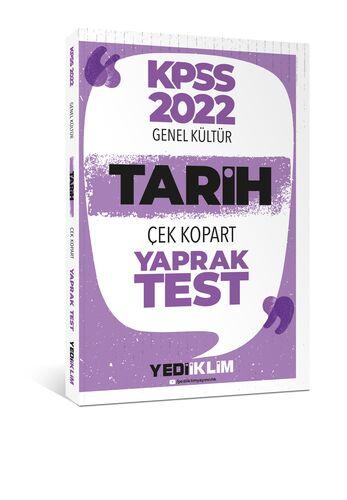 Yediiklim Yayınları 2022 KPSS Lisans Genel Kültür Tarih Çek Kopart Yaprak Test