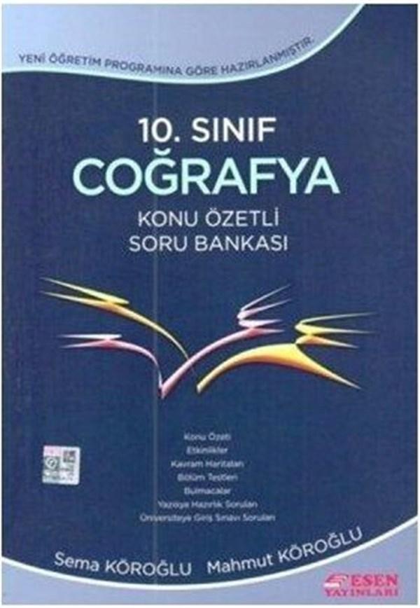 10. Sınıf Coğrafya Konu Özetli Soru Bankası Esen Yayınları
