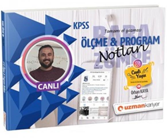 2019 KPSS Ölçme & Program Canlı Ders Notları Baba Zümre Uzman Kariyer Yayınları