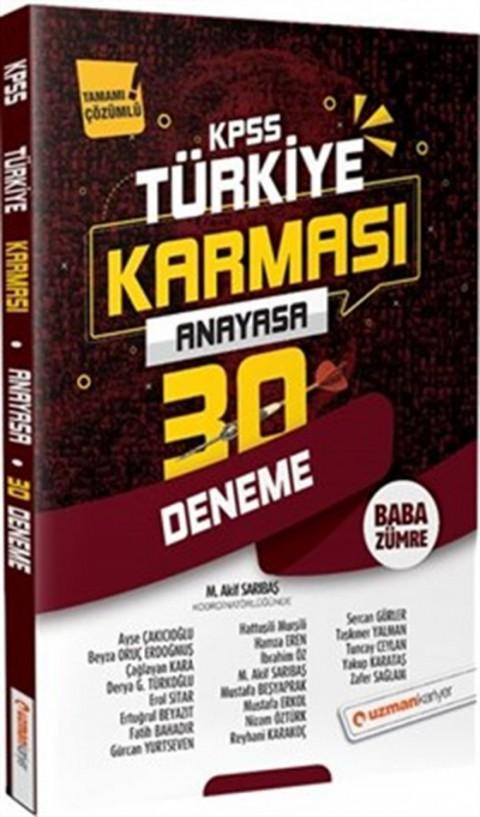 2020 KPSS Anayasa Türkiye Karması Tamamı Çözümlü 30 Deneme Uzman Kariyer Yayınları
