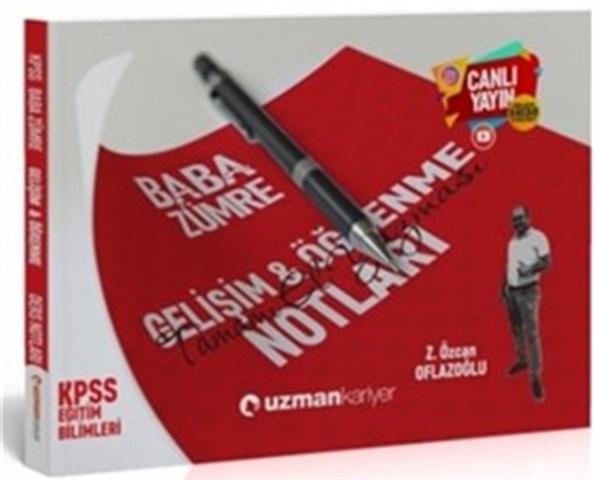 2020 KPSS Baba Zümre Gelişim & Öğrenme Notları Uzman Kariyer Yayınları