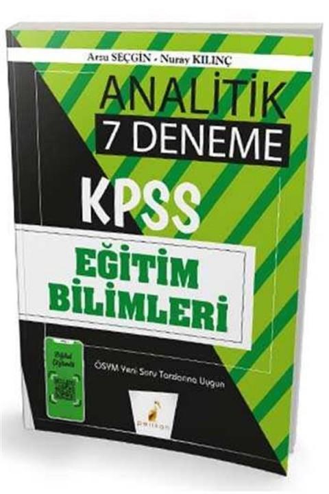 2020 KPSS Eğitim Bilimleri Analitik Dijital Çözümlü 7 Deneme Sınavı Pelikan Yayınları
