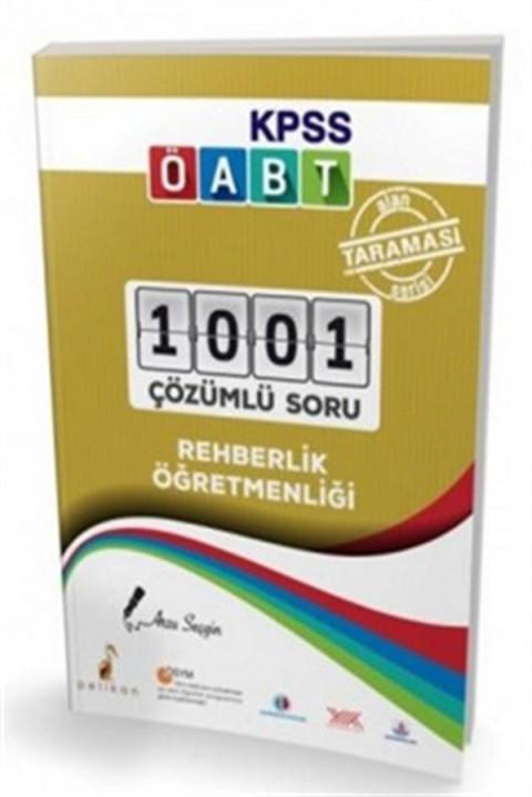 2020 ÖABT Rehber Öğretmenliği Alan Taraması Serisi 1001 Çözümlü Soru Bankası Pelikan Yayınları