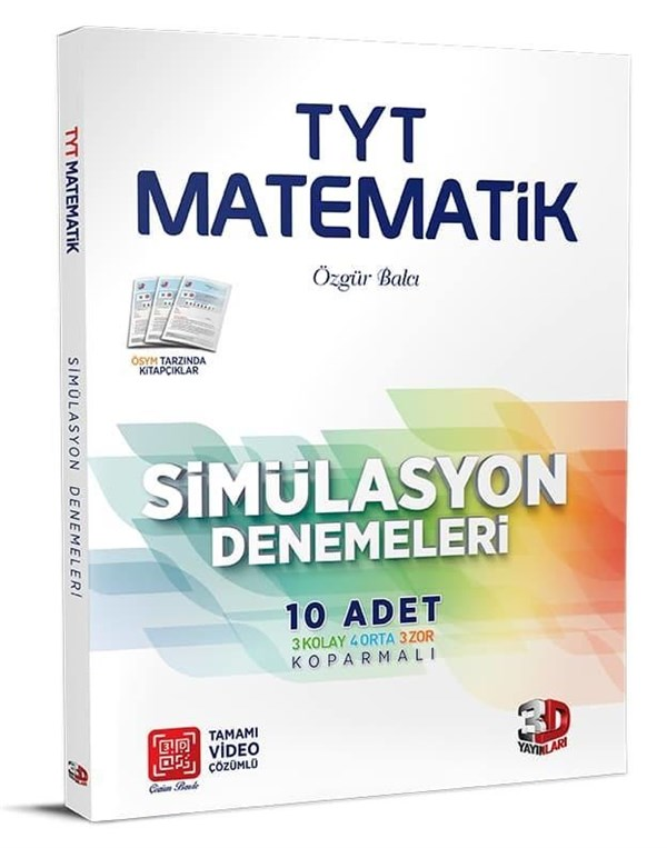 3D Yayınları TYT Matematik 10'lu Simülasyon Denemeleri Tamamı Video Çözümlü