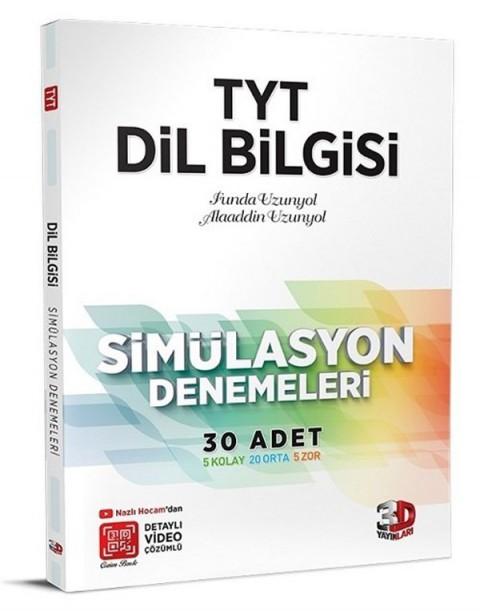 3D Yayınları YKS TYT Dil Bilgisi Simülasyon 30 Deneme