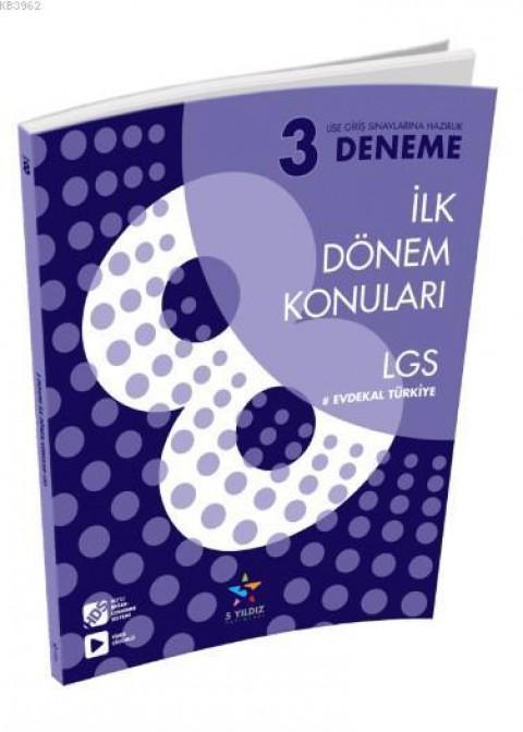 5 Yıldız Yayınları LGS İlk Dönem 3 Deneme
