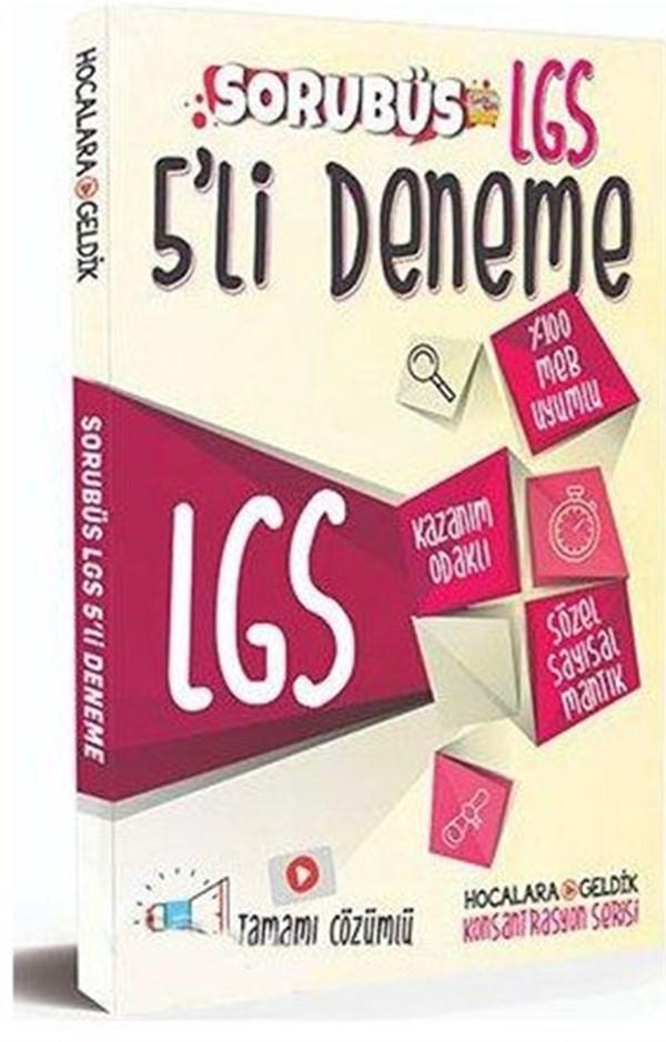 Hocalara Geldik LGS Sorubüs 5 li Deneme Konsantrasyon Serisi Çözümlü