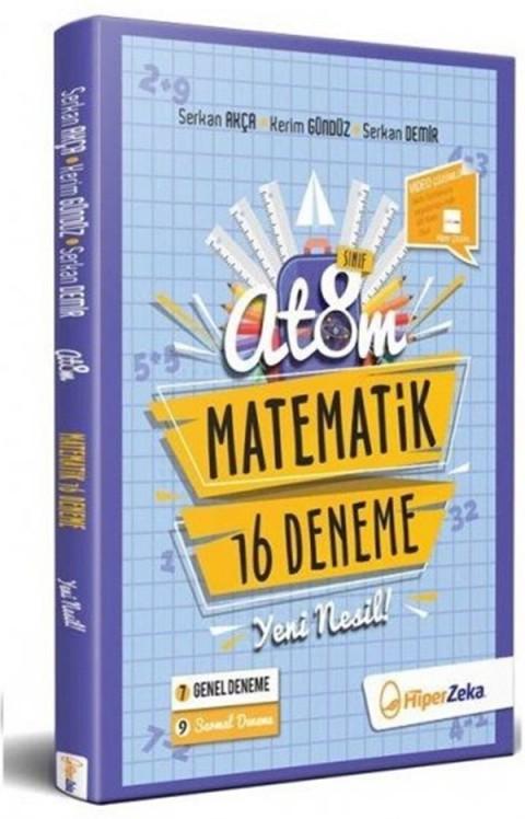 8. Sınıf LGS Matematik Yeni Nesil 16 Branş Deneme Atom Hiper Zeka Yayınları