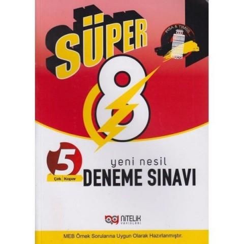 8. Sınıf LGS Süper Yeni Nesil 5 Deneme Sınavı Nitelik Yayınları
