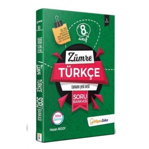 8. Sınıf LGS Türkçe Yeni Nesil Soru Bankası Zümre Hiper Zeka Yayınları