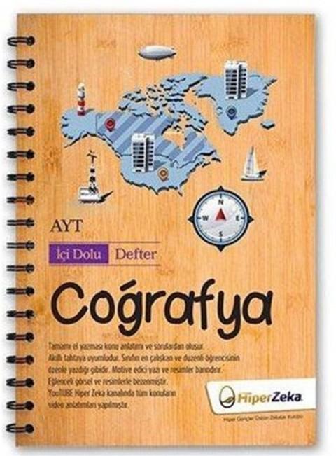 AYT Coğrafya İçi Dolu Defter Hiper Zeka Yayınları