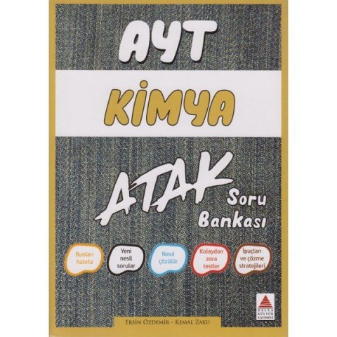 AYT Kimya Atak Soru Bankası Delta Kültür Yayınları