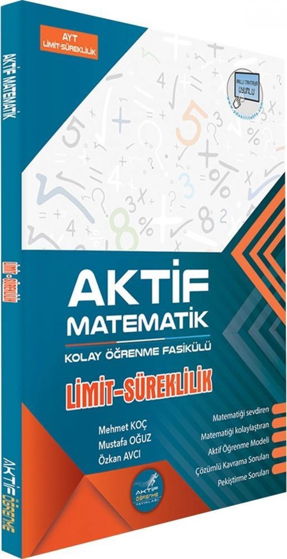 Aktif Öğrenme Yayınları AYT Limit ve Süreklilik Kolay Öğrenme Fasikülü