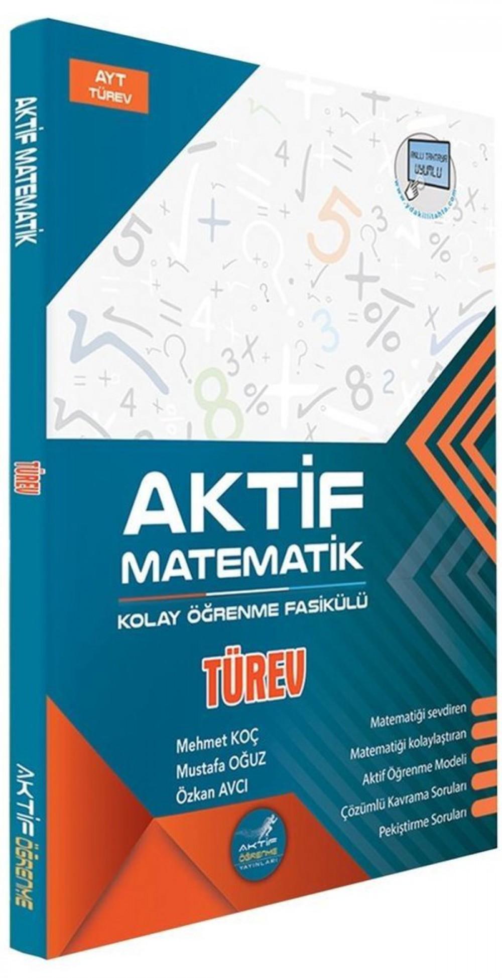 Aktif Öğrenme Yayınları AYT Türev Kolay Öğrenme Fasikülü