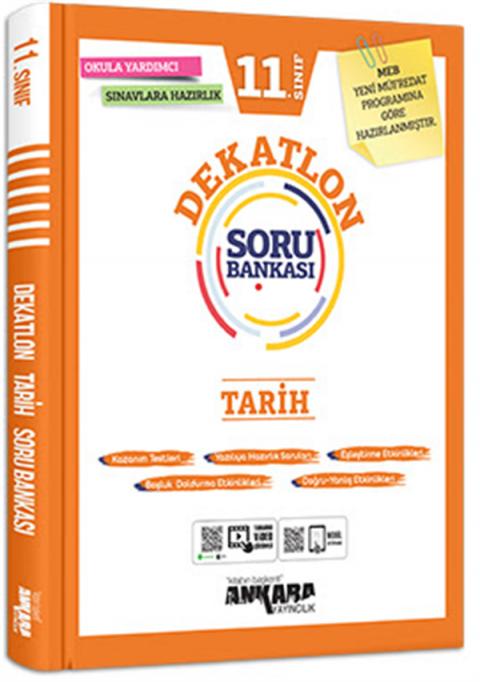 Ankara Yayıncılıık 11. Sınıf Tarih  Dekatlon Soru Bankası